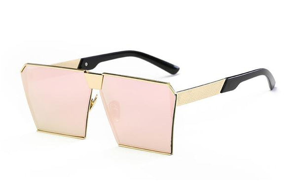 Unisex Oversized Square Vintage Sunglasses with UV400 Gradient Lenses - SolaceConnect.com
