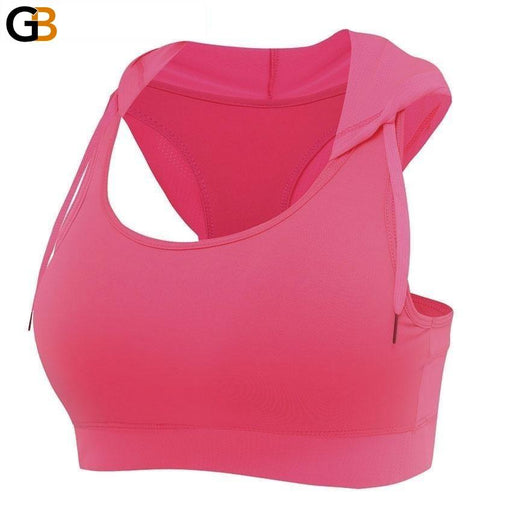 Women's Running & Gym Hooded Padded Corset Sports Bra Tank Tops - SolaceConnect.com