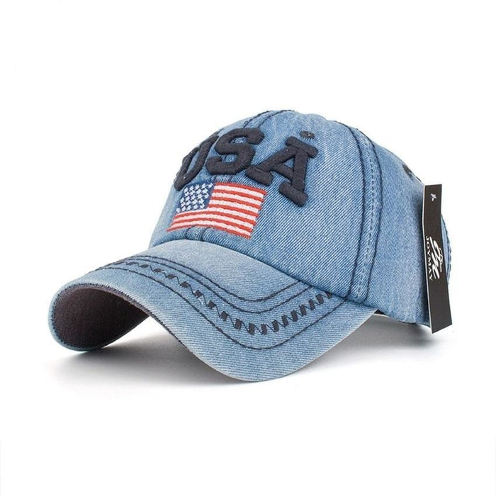 arrival high quality snapback cap cotton baseball cap USA flag embroidery hat for men women - SolaceConnect.com