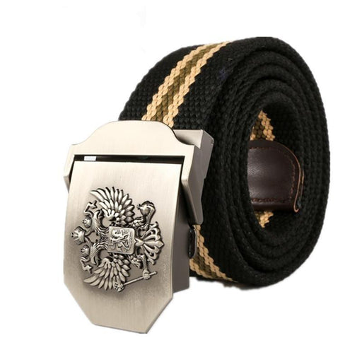 Russian new fashion Real Solid brand Belt for Men Cinto men's Fashion Pin Buckle Canvas cowboy - SolaceConnect.com