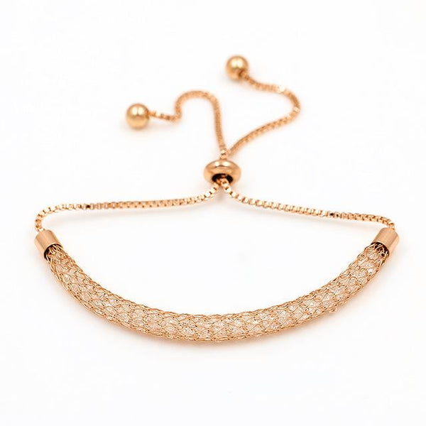 Adjustable Bezel Setting Tiny Cubic CZ Zircon Crystal Bracelets for Women - SolaceConnect.com