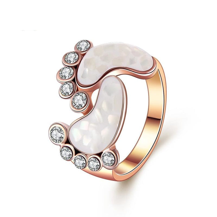 Women's Lovely Style Rose Gold Color Crystal Shell Baby Foot Rings - SolaceConnect.com