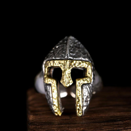 925 Sterling Silver Cool Warcraft Soldier Mask Punk Fashion Men's Ring - SolaceConnect.com