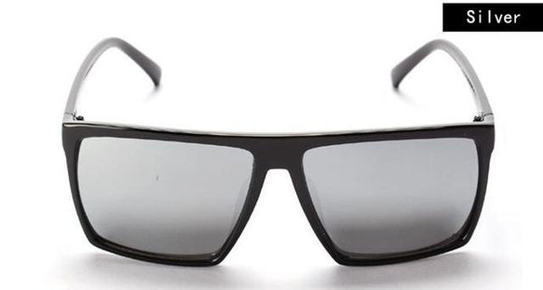 Retro Oversized Skull Square Logo Frame All Black Unisex Sunglasses - SolaceConnect.com