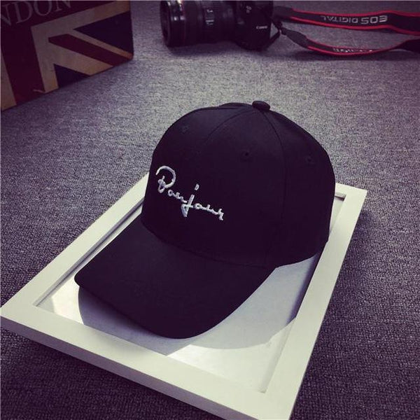 Black Snapback Embroidery Casquette Hip Hop Unisex Baseball Cap Dad Hats - SolaceConnect.com
