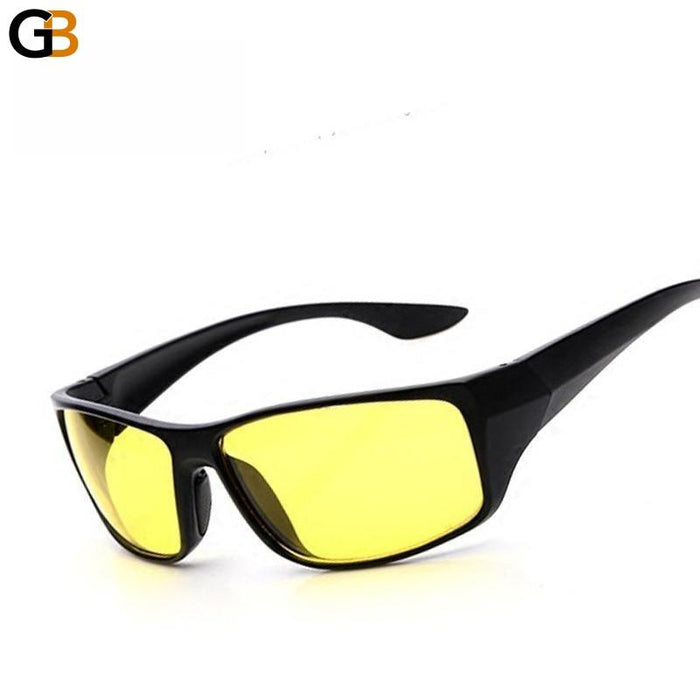 Men's High Quality Plastic Frame Mirrored Night Vision Driving Sunglasses - SolaceConnect.com