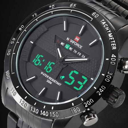 Men's Full Steel Quartz Waterproof Military Sport Analog Wristwatches - SolaceConnect.com