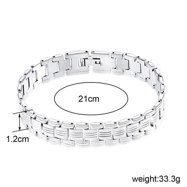 Male Fashion Men's Wristband Design Stainless Steel Bracelets - SolaceConnect.com