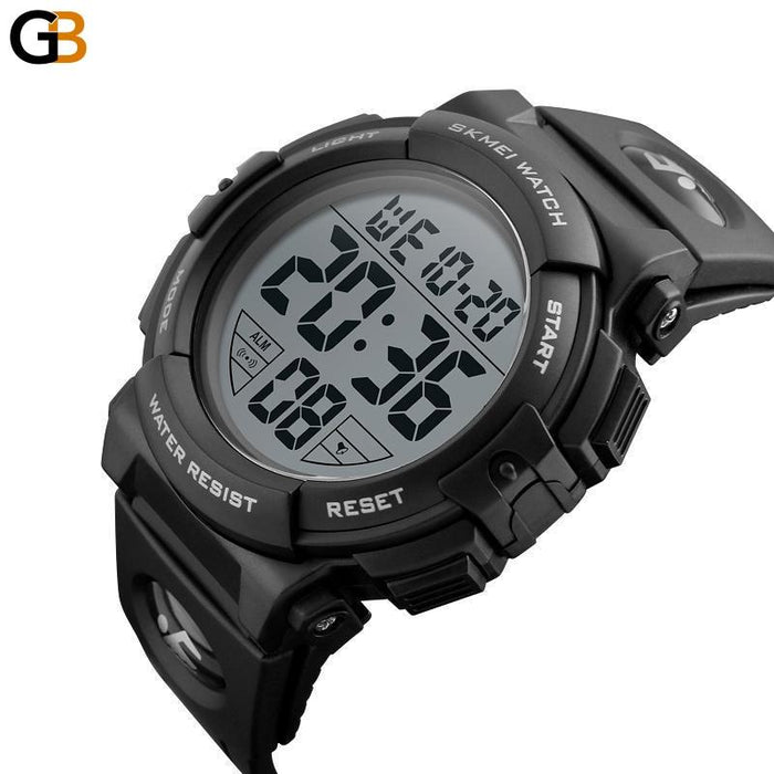 Men's Fashion Sports Waterproof Alarm Clock Digital Electronic Wristwatches - SolaceConnect.com