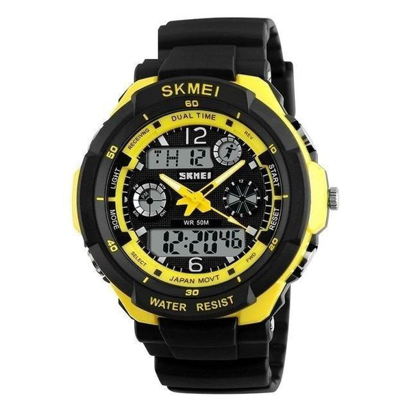Men's Luxury Sports LED Digital Quartz Watches with Shock Resistance - SolaceConnect.com