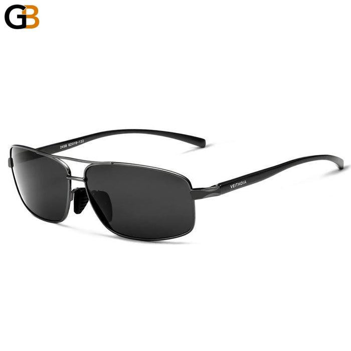 Eyewear Accessories HD Polarized Lens Square Sunglasses for Men - SolaceConnect.com