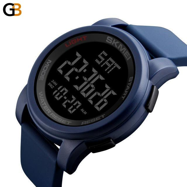 Men's Sports Digital Watches with Double Time Countdown & 50m Waterproof - SolaceConnect.com