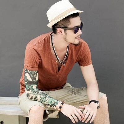 Quality Cotton Casual Design Short Sleeve Summer T-Shirt Tops for Men - SolaceConnect.com
