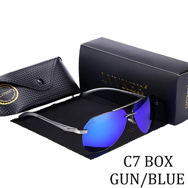 LVVKEE top brand design men Polarized Sunglasses driving sunglasses UV400 Luxury hot rays - SolaceConnect.com
