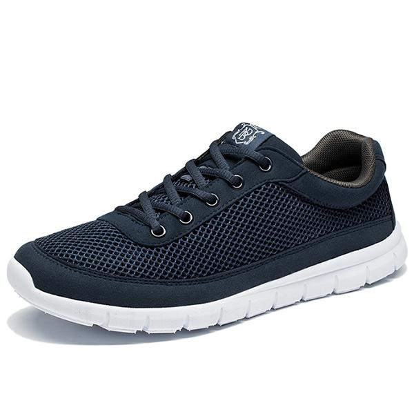 Men's Comfortable Breathable Lightweight Lace-Up Casual Walking Shoes - SolaceConnect.com