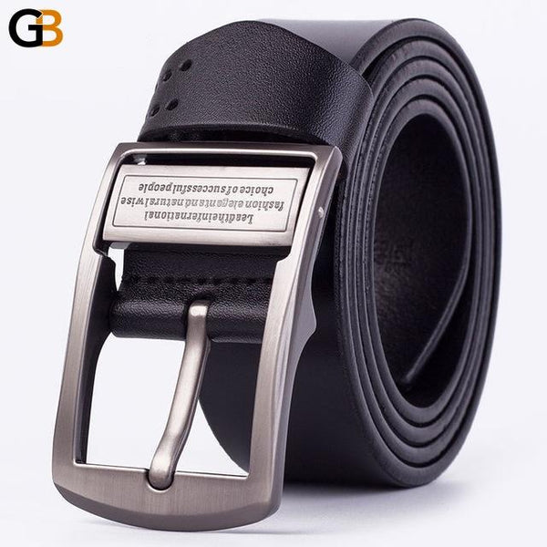 Men's High Quality Solid Color Letter Buckle Retro Style Designer Belt - SolaceConnect.com