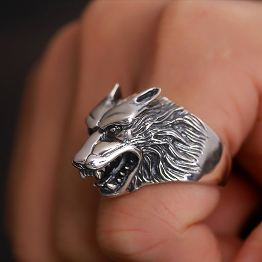 Luxury Men's Solid 925 Sterling Silver Steampunk Retro Vintage Ring - SolaceConnect.com