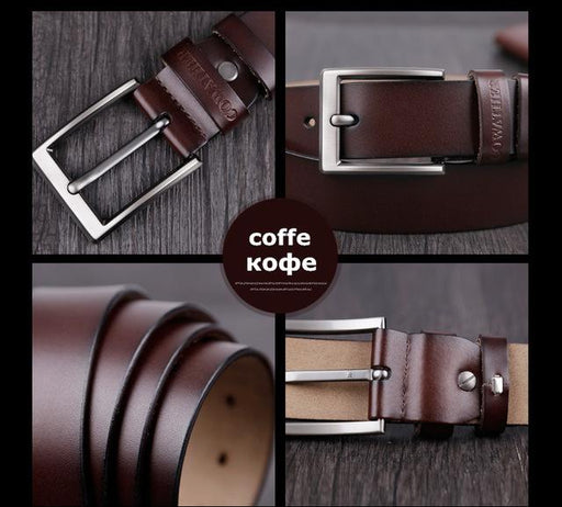 COWATHER men belt cow genuine leather designer belts for men high quality fashion vintage male strap - SolaceConnect.com