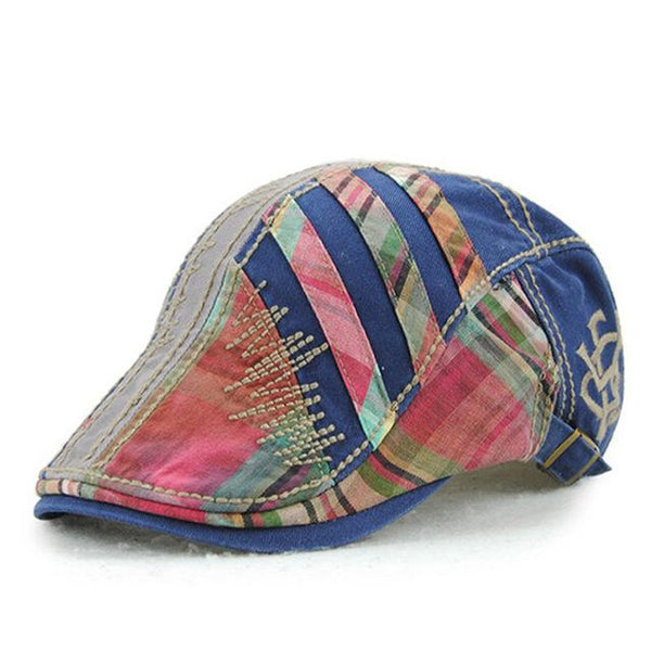 Flat Patchworked Beret Gorras Planas Visor Hat Caps for Men & Women - SolaceConnect.com