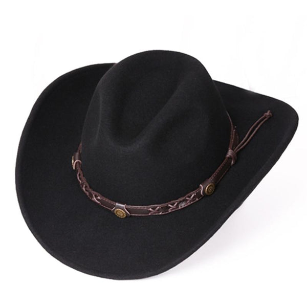 Unisex Warm Comfortable Dakota Crushable Wool Felt Western Cowboy Casual Hat - SolaceConnect.com