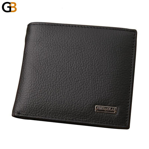 Design Genuine Leather Men's Black Wallets with Coin Purse - SolaceConnect.com