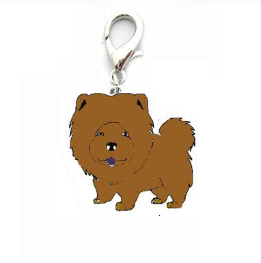 5Pcs/Lot Cute Chow Chow Sharpei Foxhound Pug Shepherd Dog Purse Charms - SolaceConnect.com