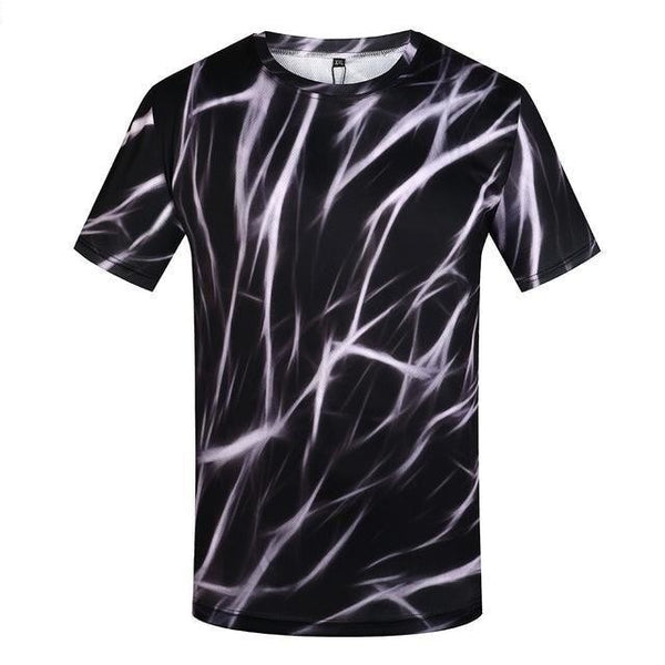 Happiness Plum Men's Fashion Fun 3D Anime Lightning Printed T-Shirts - SolaceConnect.com