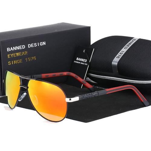 Quality Anti Glare HD Polarized Men's Classic Aviation Metal Sunglasses - SolaceConnect.com
