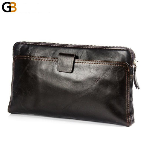 Large Capacity Genuine Leather Men's Wallet with Credit Card Holder - SolaceConnect.com