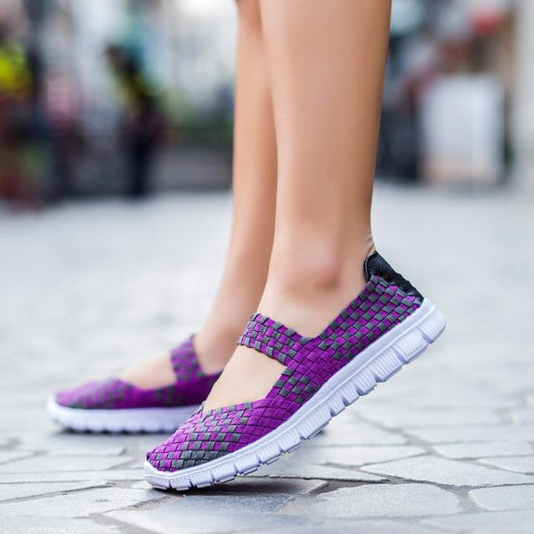 Handmade Women's Casual Summer Breathable Lightweight Woven Shoes - SolaceConnect.com