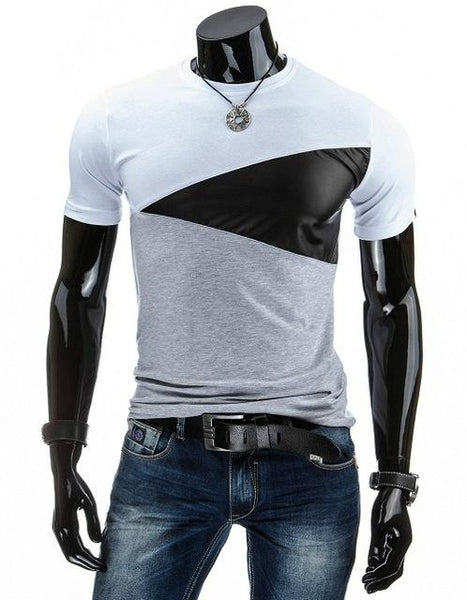 Men's Casual Fashion Cotton Military Style Patchworked T-Shirts Tees - SolaceConnect.com