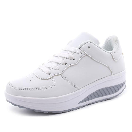 Women's Casual Slim Platform Lace-Up Round Toe Shoes for Fitness Lady - SolaceConnect.com