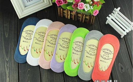 6Pairs Per Lot High Quality Women's Solid Pattern Thin Cotton Short Socks - SolaceConnect.com