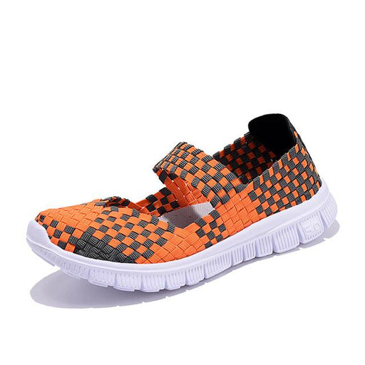 Women's Comfortable Woven Breathable Handmade Summer Flat Shoes - SolaceConnect.com