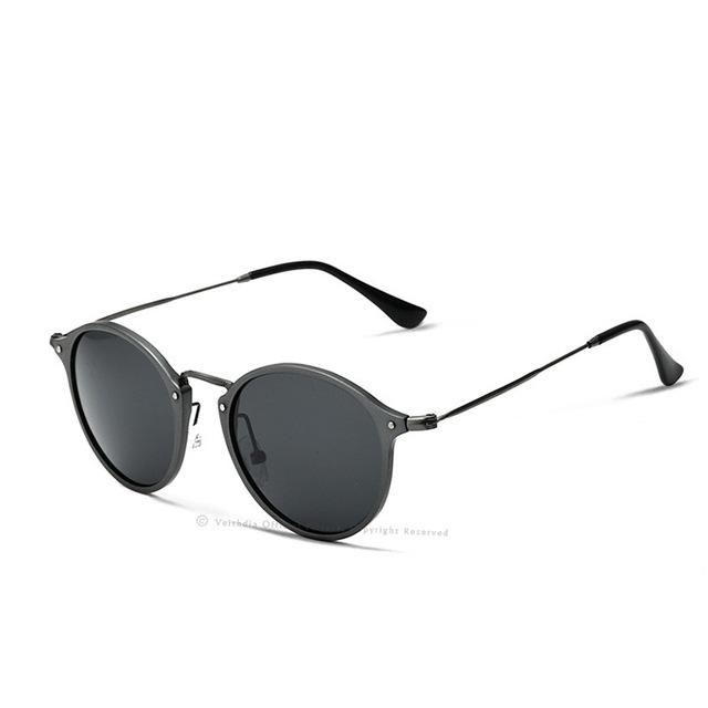 Unisex Fashion Polarized Coating Mirror Driving Sunglasses in Round Shape - SolaceConnect.com