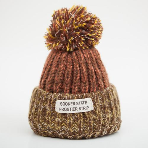 Warm Knitted Fur Woolen Letter Pattern Winter Hats for Women - SolaceConnect.com
