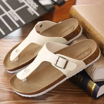 Men's Summer Plus Size 35-46 Leisure Cork Couple Flip-Flop Slippers - SolaceConnect.com