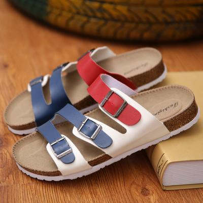 Men summer shoes plus size 35-46 leisure cork slippers fashion couple slippers flip-flops