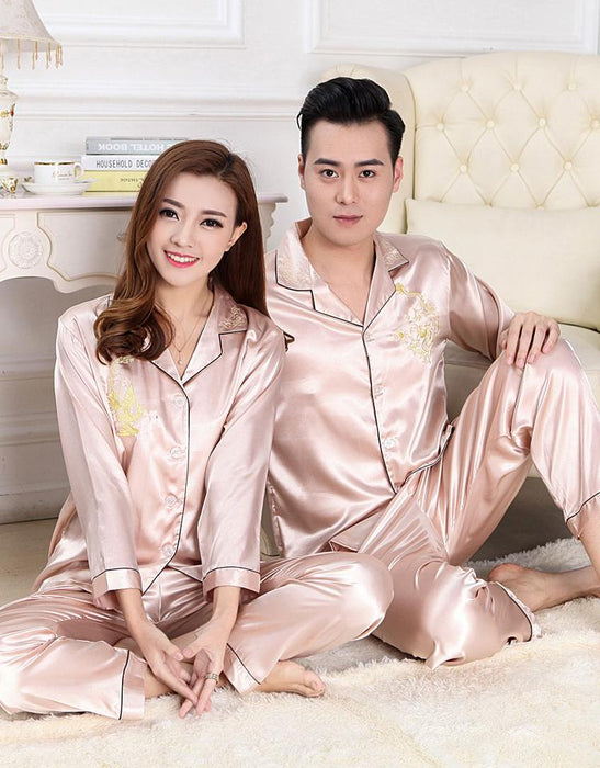 Silk High Quality Pajama Sets Ice Silk Pajamas set Long Sleeves Home  Clothing For the Young b21cba1e5