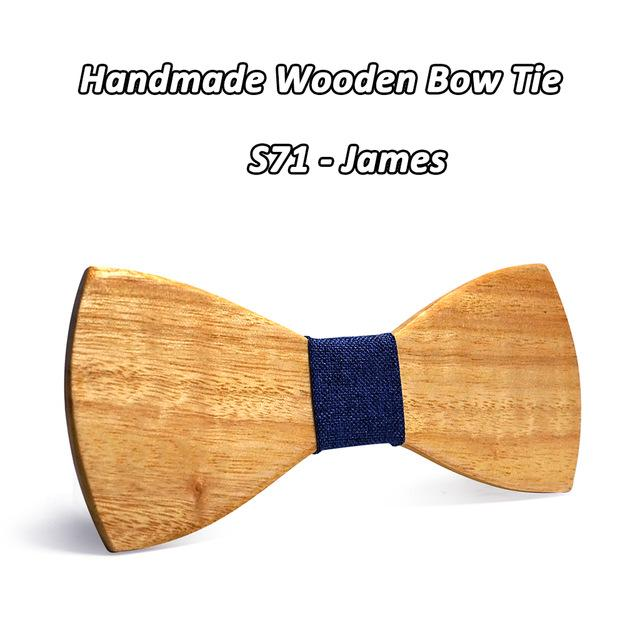 Formal Business Wedding Party Classic Solid Wooden Gravatas Ties Neckties - SolaceConnect.com