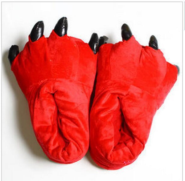 Unisex 11 Color Funny Animal Paw Monster Claw Soft Cotton Slippers - SolaceConnect.com
