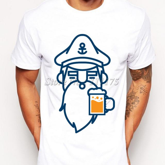 Men's Fashion Novelty Beer Beard Man Design Custom Printed T-Shirt - SolaceConnect.com