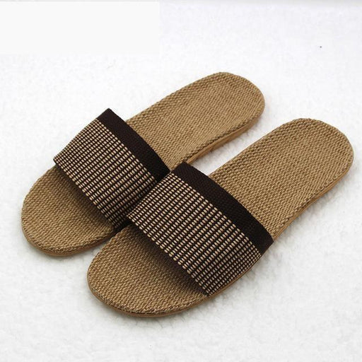 High Quality Candy Colors Summer Home Indoor Non-Slip Flax Slippers - SolaceConnect.com