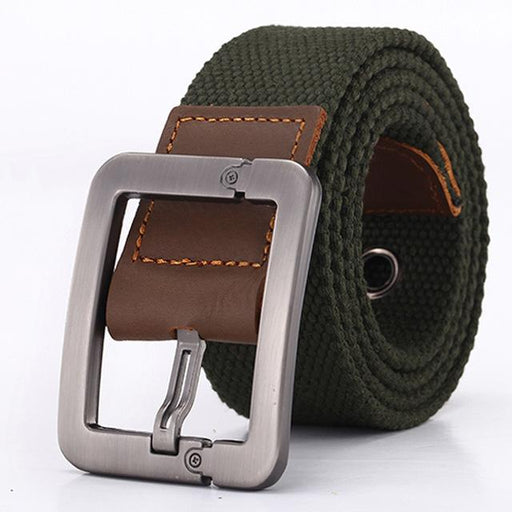 HOT Real Solid brand Belt for Men Cinto men's Fashion Pin Buckle Canvas cowboy knitted Strap - SolaceConnect.com