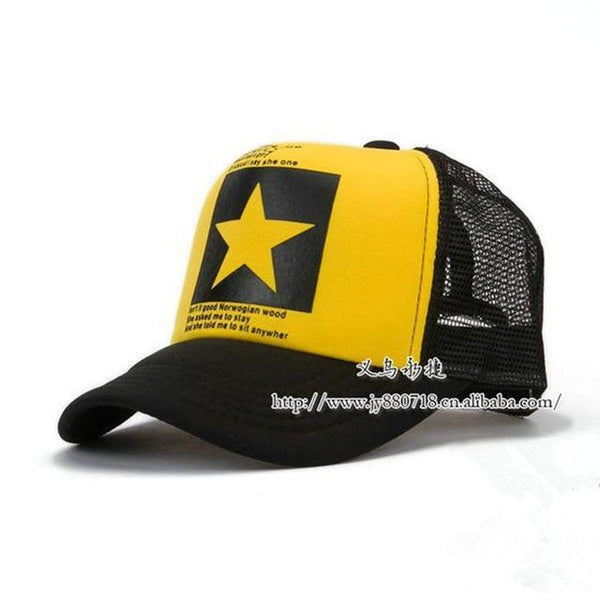 Fashion Unisex Breathable Pointed Star Outdoor Baseball Cap Hat for Summer - SolaceConnect.com