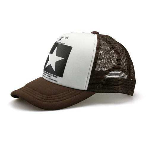 Fashion pointed Star Baseball Cap Outdoor Baseball Hat Breathable men&women Summer Mesh Cap - SolaceConnect.com