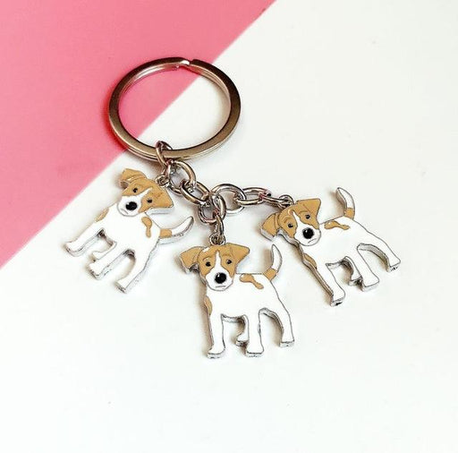 Classic Style Metal Animal Pet Dog Tag Car Key Ring Gift for Men - SolaceConnect.com