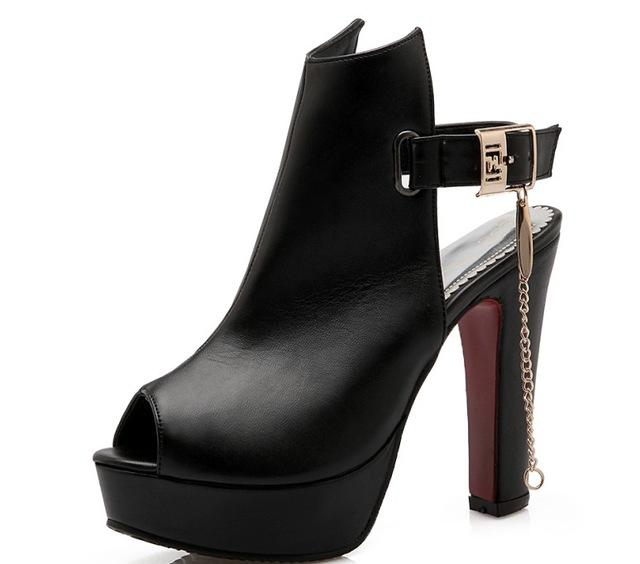 Big Size 34- 50 Cool Women's Gladiator High Heel Solid Colored Shoes - SolaceConnect.com