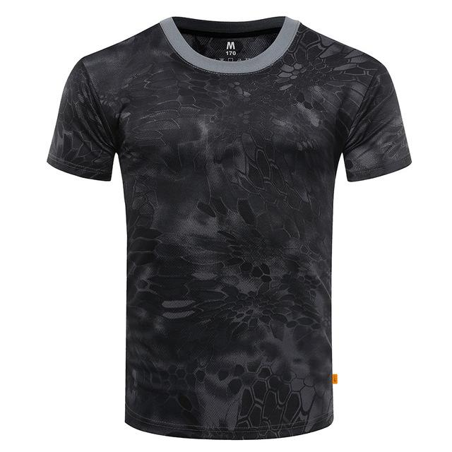 Men's Breathable Tight Tactical Camouflage Quick Dry Compression T-Shirt - SolaceConnect.com