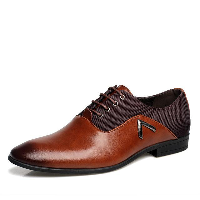 Oxford Black Brown Wedding & Business Men's Formal Big Size 38-47 Shoes - SolaceConnect.com